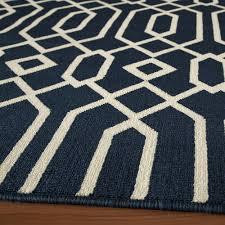 baja navy geometric outdoor rug 6ft 7in x 9ft 6in