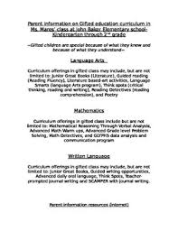 pa information for gifted children