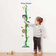Bubble Guppiestm Boys Personalized Growth Chart Wall Decal