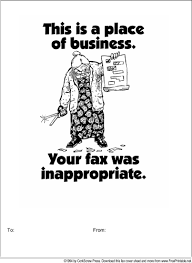 Inappropriate Fax Fax Cover Sheet