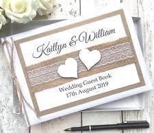 Personalised Handmade Vintage Rustic Lace Hessian Wedding Guest