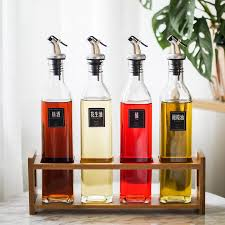 house lock road glass oil bottle set 500ml household soy sauce bottle only beautifulness bottle