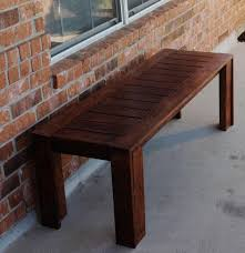 simple outdoor bench