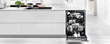 integrated dishwashers fit beneath your counter top and provide a neat flush finish to your existing decor they often allow for a fitted custom cupboard