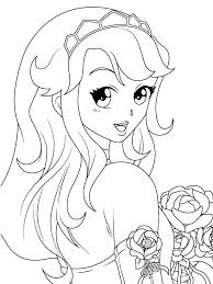 Girls Coloring Pages Cute Anime Girls Coloring Pages Manga Coloring