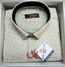 <b>Mens</b> Cotton White <b>Designer Printed</b> Shirt, Rs 375 /box, Welcome ...