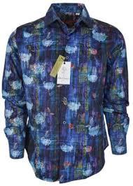 Robert Graham Shirt Size Chart New Robert Graham Mens 198 Kiva Cotton Paisley Button Down Sports Dress Shirt