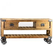 French Rustic Industrial Style Plasma TV Stand $1,390.00 #thebellacottage  #industrialchic #wood