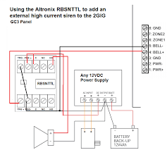 how do i add a wired siren to a 2gig gc3 alarm grid this kit was originally configured to work honeywell s lynx touch panels but will work fine the 2gig gc3 also