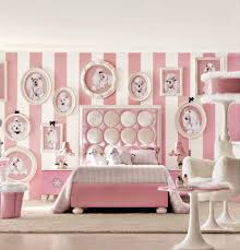 Little Girls Bedroom Paint Admirable Toddler Bedroom Decorating Idea With Pink White Stripes