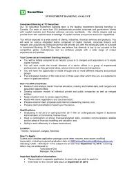 Financial Analyst Resume Sample Awesome Download Investment Banking
