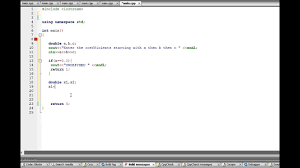c program quadratic formula