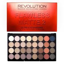 revolution ultra 32 eyeshadow palette flawless matte 2 to view a larger image