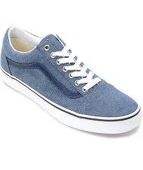 vans shoes blue. vans old skool blue chambray skate shoes