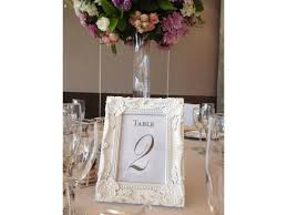 table number frames white baroque