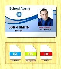 Id Badge Freebie Large Fake School Template Golove Co