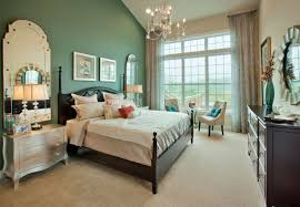 Beautiful Traditional Master Bedroom Ideas Added Green Wall As Best Colors  For Bedrooms Added Chandelier Over Bed Frames As Well As Ceiling To Floor  Windows ...