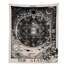 indian mandala tapestry wall hanging mysterious boho wall tapestry home decor the star the sun the moon