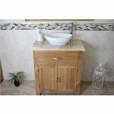 Bathroom Vanity Cabinet Solid Oak Sink Unit Modern Cabinet Etsy