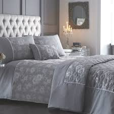 incredible warwick silver jacquard duvet cover sets silver bedding sets plan