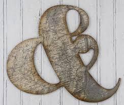 clever design ampersand wall art home designing inspiration v sanctuary com 9 contemporary ampersand map metal