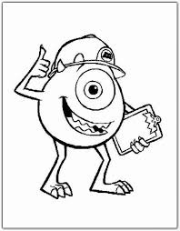 Monsters Inc Coloring Pages Colors Of Pictures