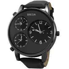 big face watches for men big face watches for men breda men s 1627 black mitchell multi time zone watchoverviews
