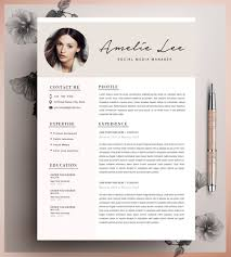Template Cv Creative Resume Template Cv Template Instant Download Etsy