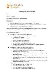 Executive Assistant Job Description Stunning Position Description Executive Assistant