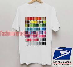 T Shirt Color Chart Gt 541 Color Chart Unisex Adult T Shirt