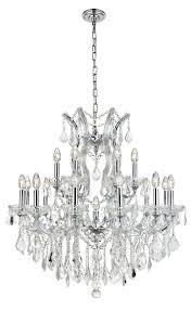 maria theresa 19 light chrome chandelier clear spectra swarovski crystal