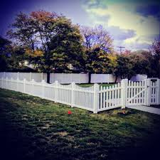 Vinyl solid picket fence Wall Photo Of Paramount Fence Royal Oak Mi United States Vinyl Scalloped Picket Paramount Fence Vinyl Scalloped Picket Fence Combined With Vinyl Solid Privacy