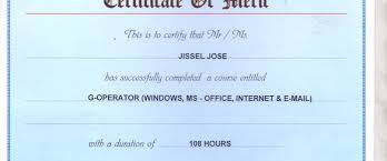 Microsoft Office Training Certificate Ms Office Certificates Magdalene Project Org