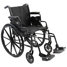 karman lightweight deluxe 18 inch steel wheelchair with removable armrests 36 lbs