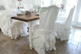 chairs shabby chic lovely dining room chair slipcovers decor ideas with regard to 6