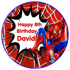 Aliexpresscom Buy Edible Wafer Paper For Cake Topper 8 Spiderman