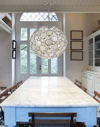 modern crystal and capiz shell round pendant chandelier contemporary kitchen