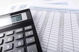 Ameritization Schedule Amortization Schedule Documents With Calculator Stock Photo Picture