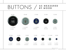 Britex Button Sizing Chart Mood Diy Button Size Chart Types Of Buttons Diy Buttons