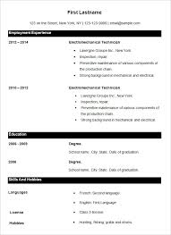 Simple Job Resume Outline 70 Basic Resume Templates Pdf Doc Psd Free Premium Templates