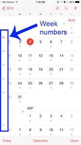 Week Number Calendar How To Turn On Week Numbers In The Iphone Calendar Solve