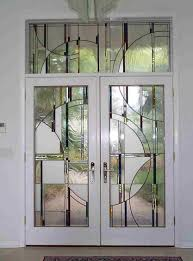 image of contemporary stained glass doors