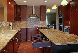 Small Picture Dark Cherry Wood Kitchen Cabinets Contemporary Kitchen Cabinets