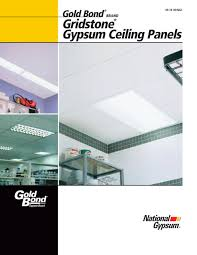 Gridstone Gypsum Ceiling Panels National Gypsum Pdf Catalogues