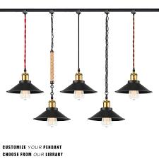 stglighting h type track light pendants restaurant chandelier decorative pendant light industrial factory pendant lamp bulb not included kiven lighting
