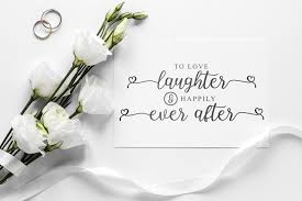 Happily ever after 461 gifs. Wedding Svg To Love Laughter And Happily Ever After 760239 Cut Files Design Bundles