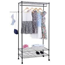 Rolling Coat Rack With Shelf Best Heavy Duty Rolling GarmentClothes Racks Reviews FindingTop 97