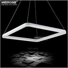 meerosee 26 inch square led light fixture crystal pendant light led crystal lighting white led re suspension drop lamp md12178 led lighting led pendant
