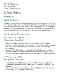 22 Free Management Consultant Resume Samples Sample Resumes