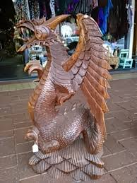 extra large wood carved dragon